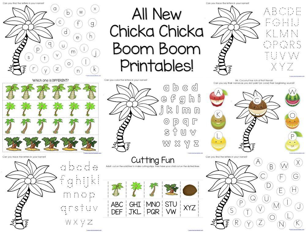 Chicka Chicka Boom Boom Theme Printables Chicka Chicka Boom Boom
