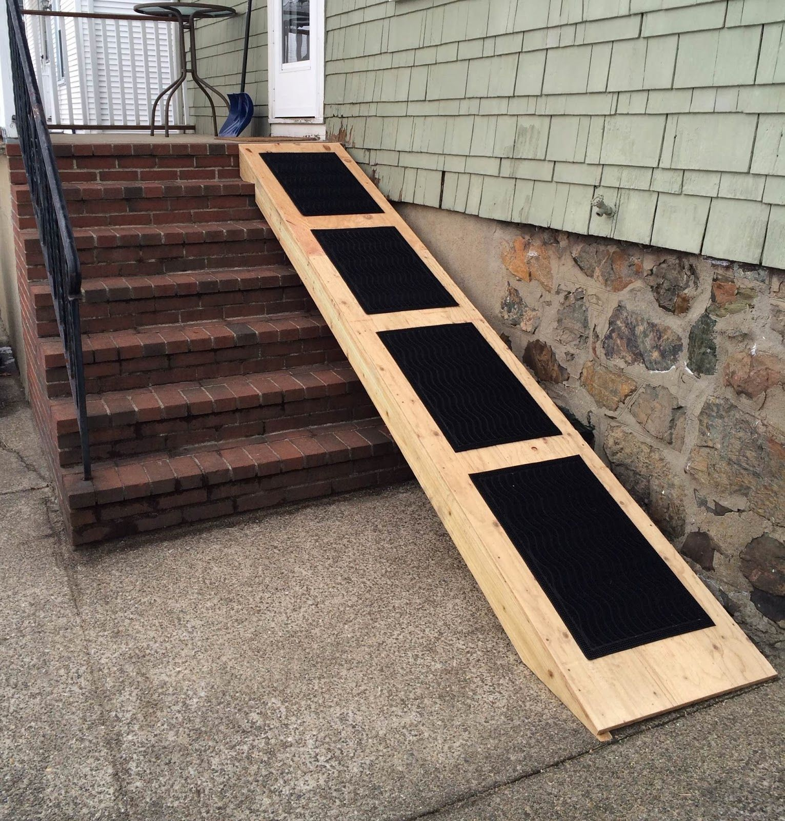 Some Assembly Required Ramp For 6 Steps To Aid In Older Or Small