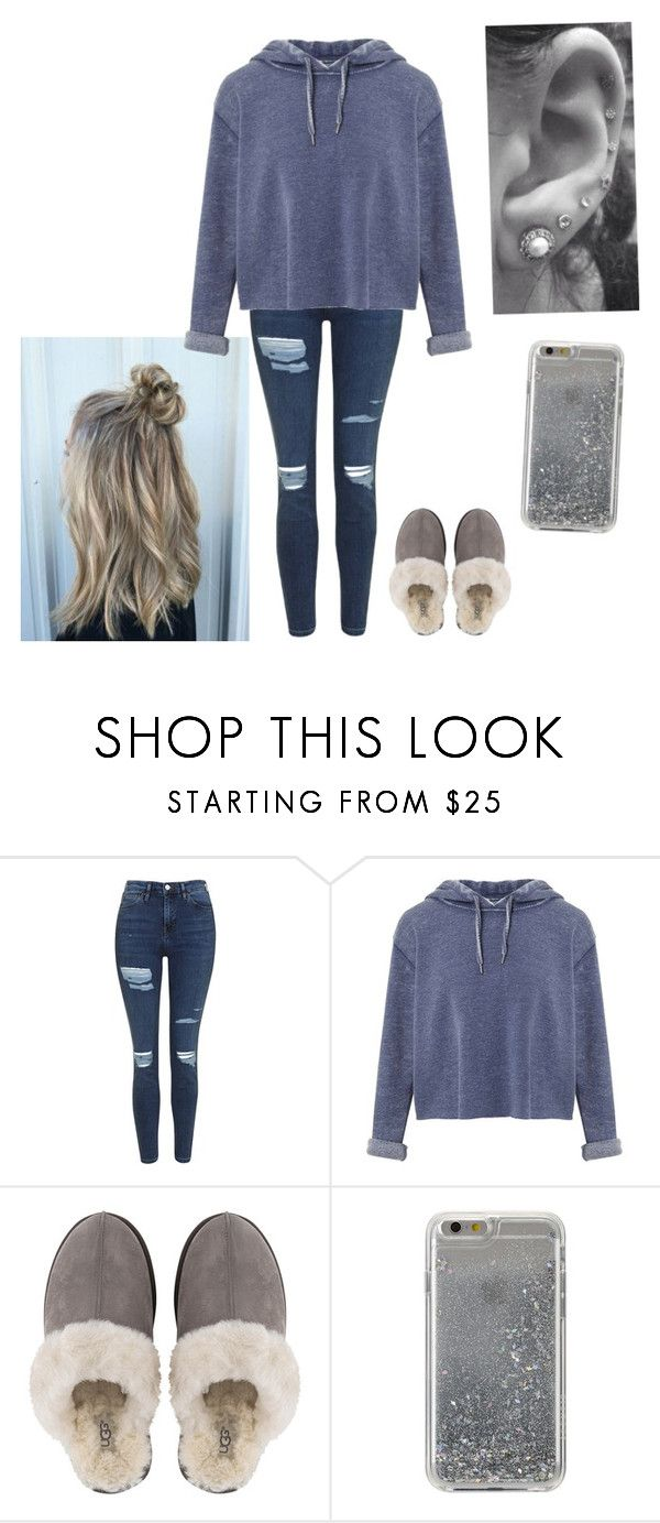 """""""Untitled #331"""" by savannah-turner ❤ liked on Polyvore featuring Topshop, Miss Selfridge, UGG and Agent 18"""