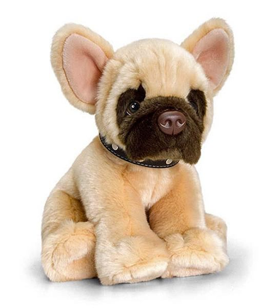 french bulldog puppy soft plush toy rascal sitting by keel toys