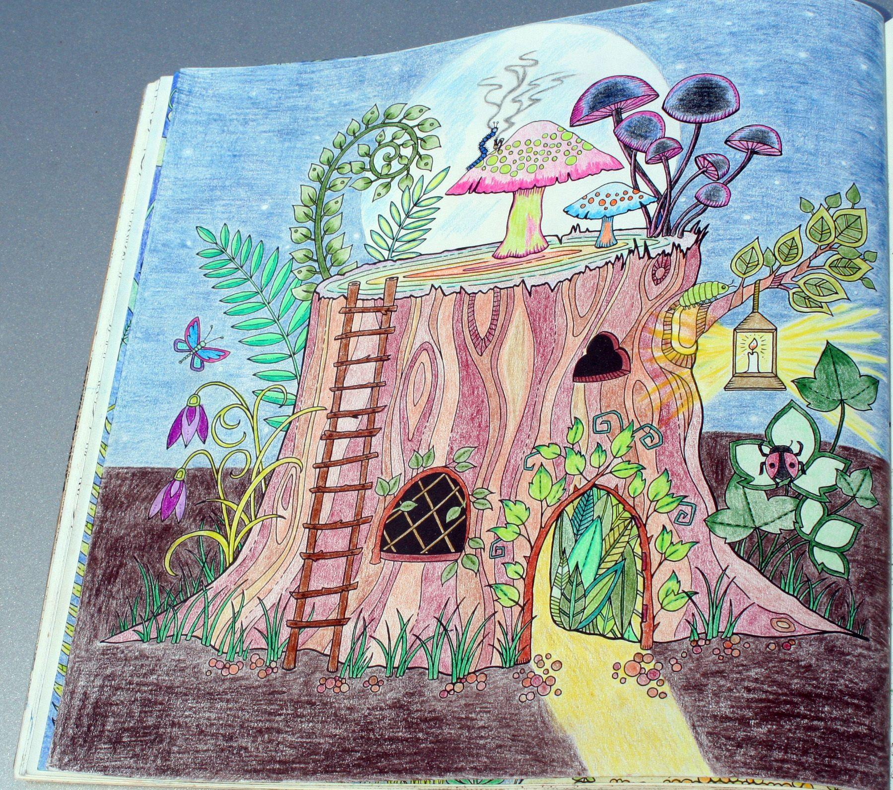 Johanna Basford Enchanted Forest Coloring Primacolor