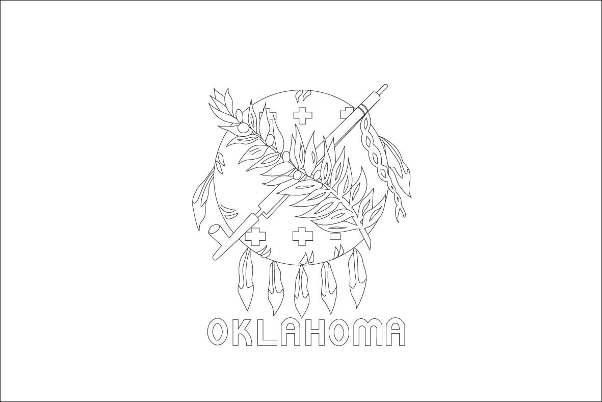 Http Www World Free Printable Flags Com Images Oklahoma1 Flag