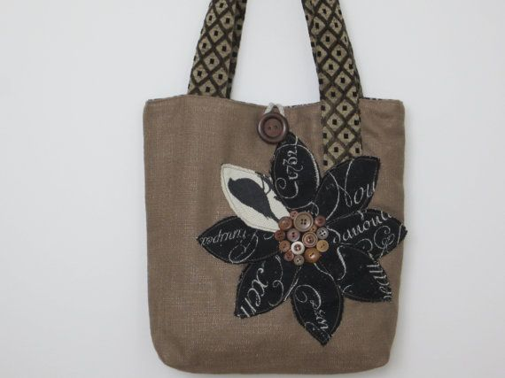 Womens Brown French Vintage Tote Bag Brown di BerkshireCollections