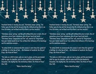 LDS 12 days of Christmas. 12 cards with stories/thoughts and an ...