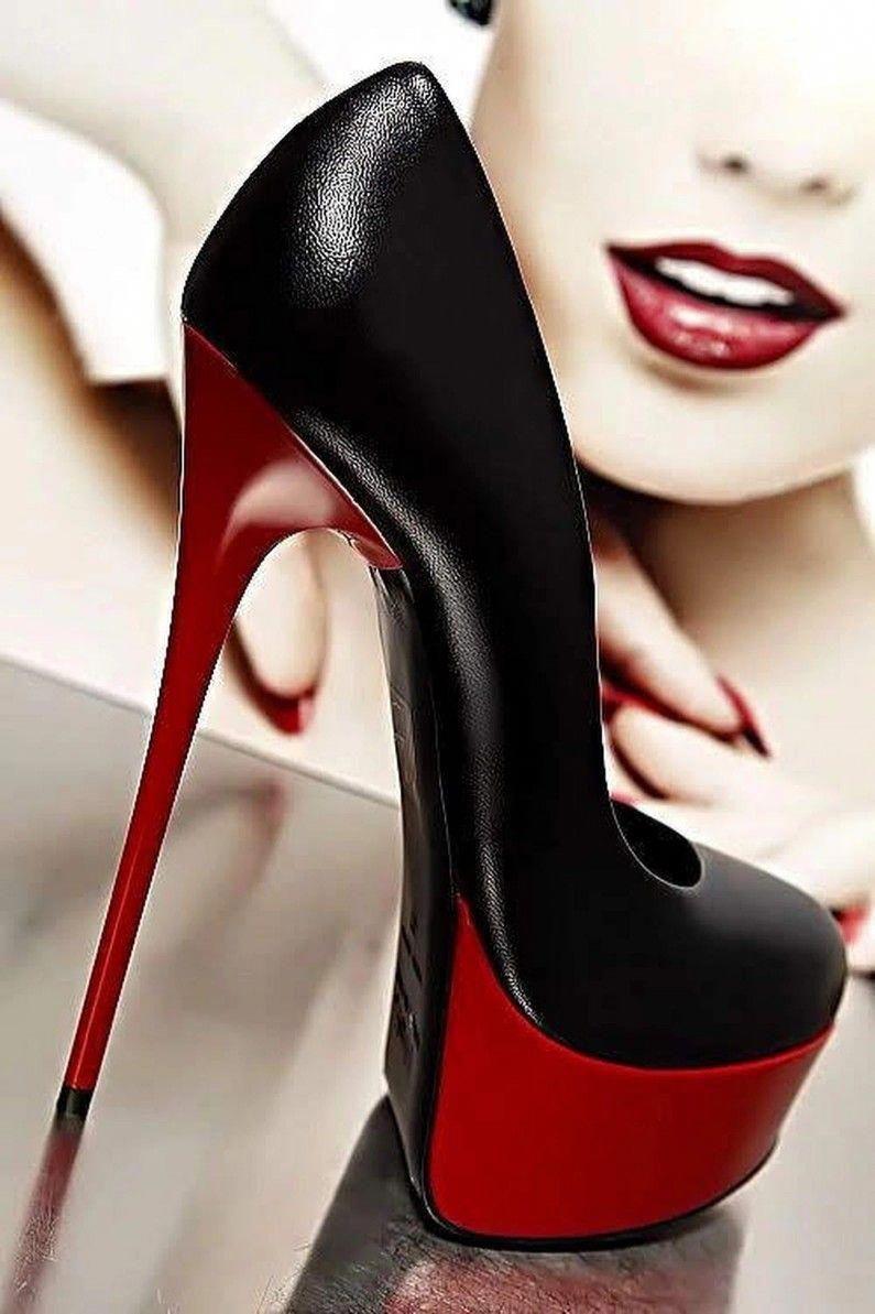 Red Patent Court Shoe   Heels, Stiletto heels, High heels