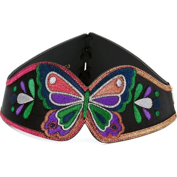 f963a29aaa8ca Manish Arora Embroidered Butterfly Belt ( 448) ❤ liked on Polyvore  featuring accessories