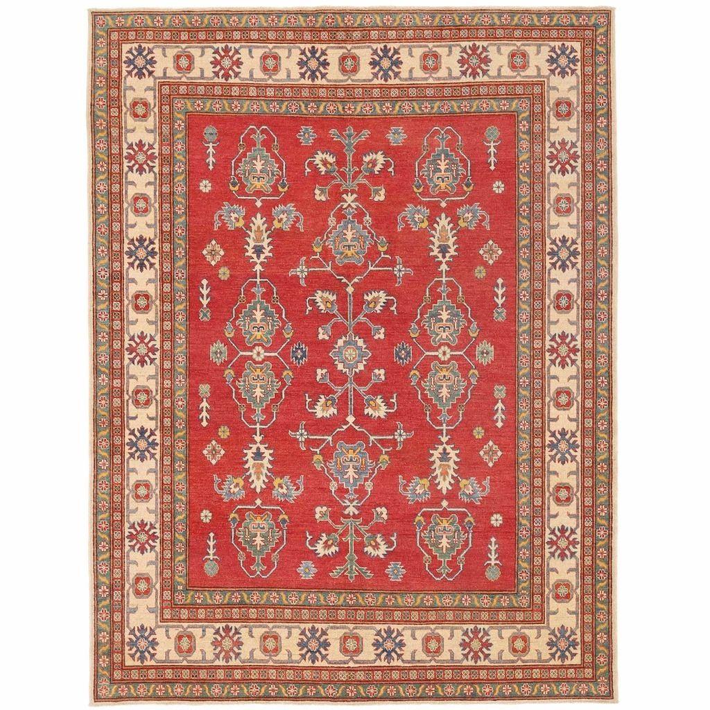 Herat Oriental Afghan Hand-knotted Kazak Red/ Rug