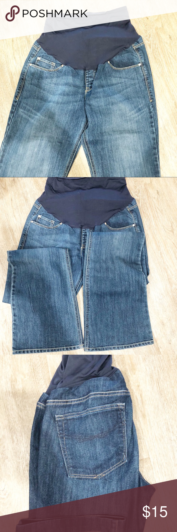 1a041b36e54 Maternity Jeans Size 10 Women s maternity jeans in good condition size 10  Length 37 inches Inseam 31 inches Rise 6 Jeans Boot Cut