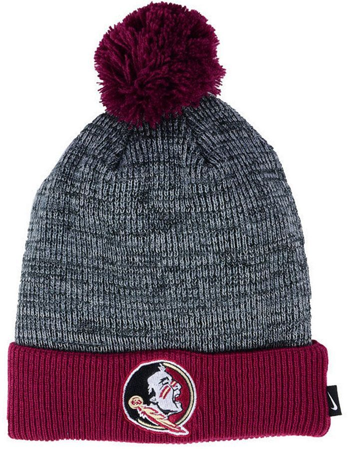 7bf46f2c7bd17d Florida State Seminoles Heather Pom Knit Hat | Products | Knitted ...