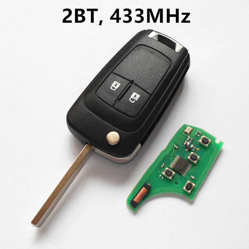 2 Button Car Remote Key 433Mhz for OPEL Holden Insignia