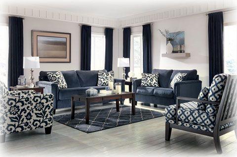 Prime Keendre Indigo Sofa Accent Chairs Home Ideas Room Decor Home Interior And Landscaping Eliaenasavecom