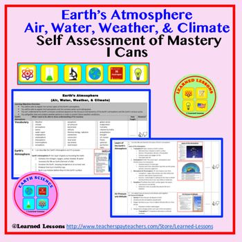 Earth Science Earth\u0027s Atmosphere Student Self-Assessment of Mastery