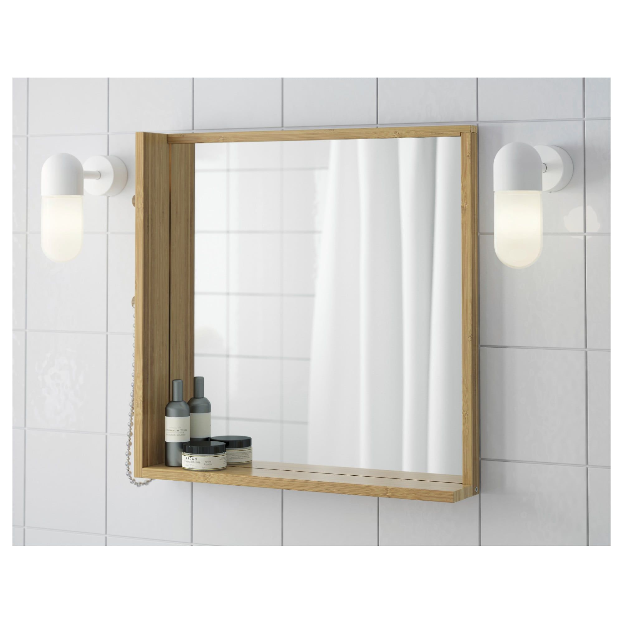 Diy Hollywood Mirror Using Ikea Striberg Lighting And Nissedal Mirror Under 100