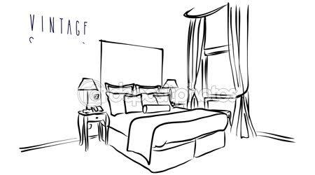 Vector De Dibujos Animados Ilustracion De Arte De Hotel Habitacion Interior Con Cama Videos De Stock C Hotel Room Interior Illustration Artwork Space Artwork