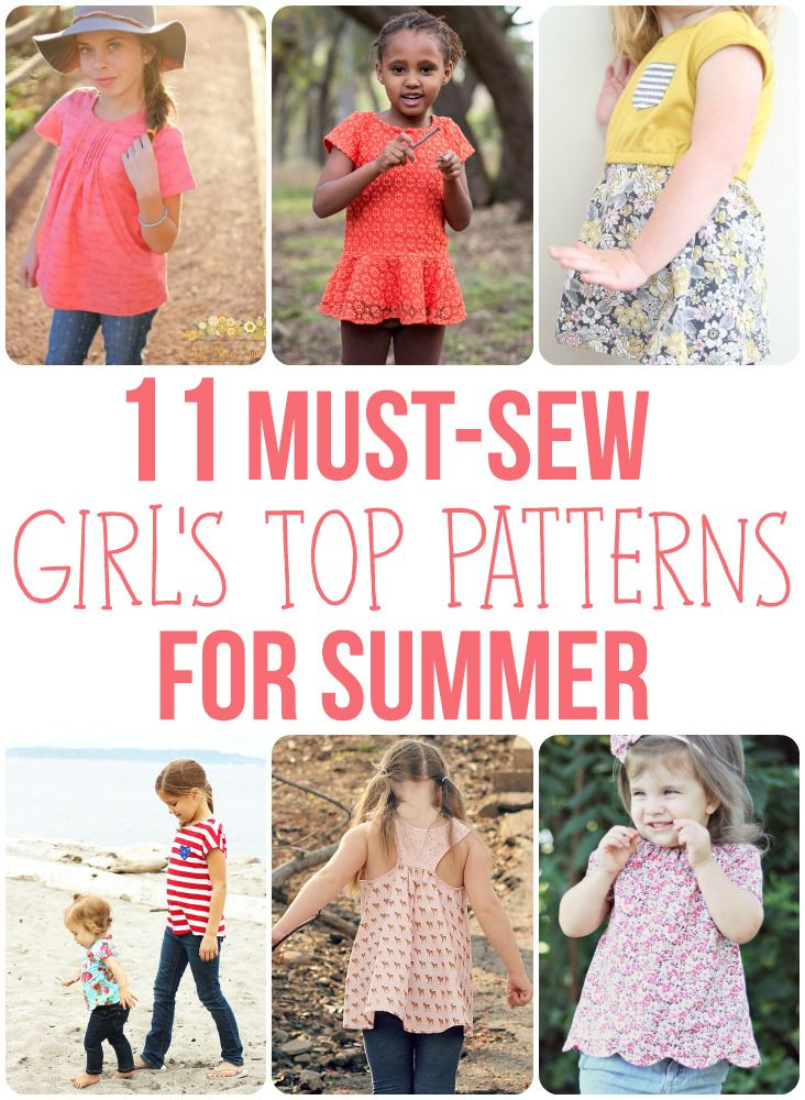 5c33d3052421c These 11 Girl s Top Patterns are perfect for summer! Includes knit