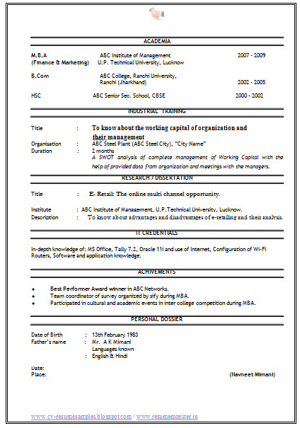 Free Download Sales Marketing Resume  HttpWwwResumecareer