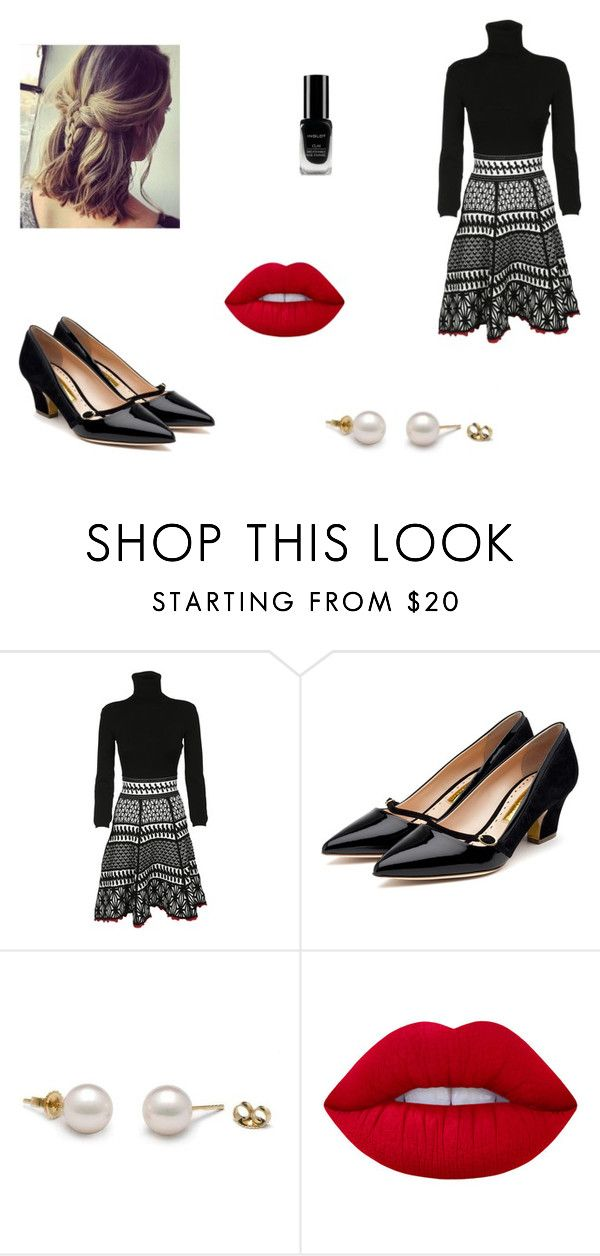 """Untitled #7774"" by mie-miemie ❤ liked on Polyvore featuring Dsquared2, Rupert Sanderson, Lime Crime and Inglot"