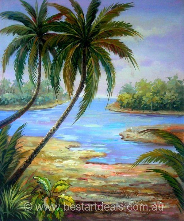 Original Hand Painted Landscape Oil Painting At Best Price 74 25 Free Shipping To Aus Canada Nz Uk Us Bestartdeals Com Au Arte Paisajes Paisajes Arte