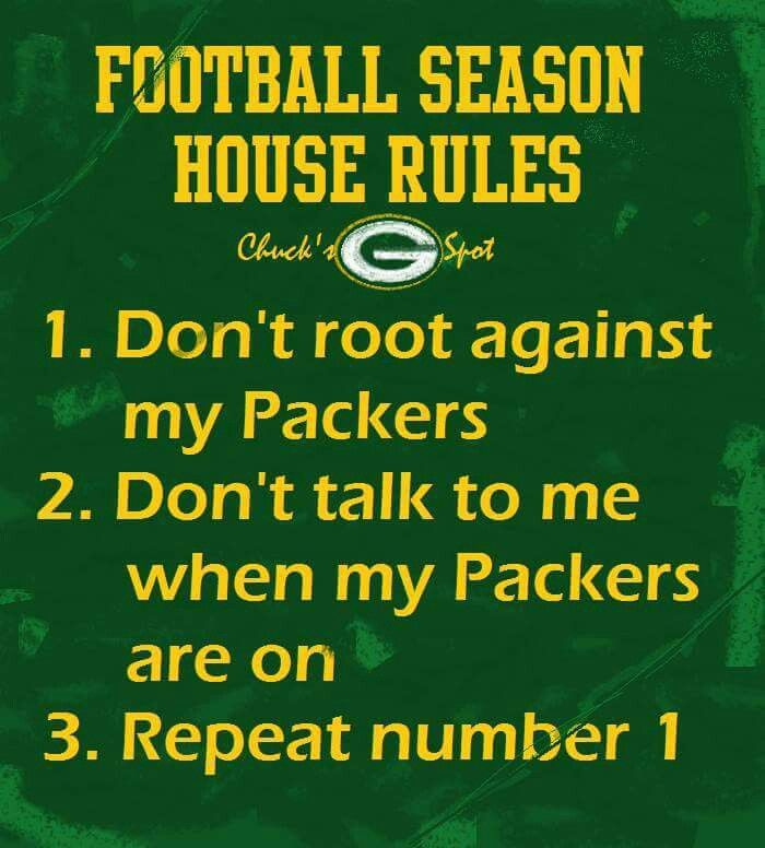 Football House Rules Green Bay Packers Crafts Green