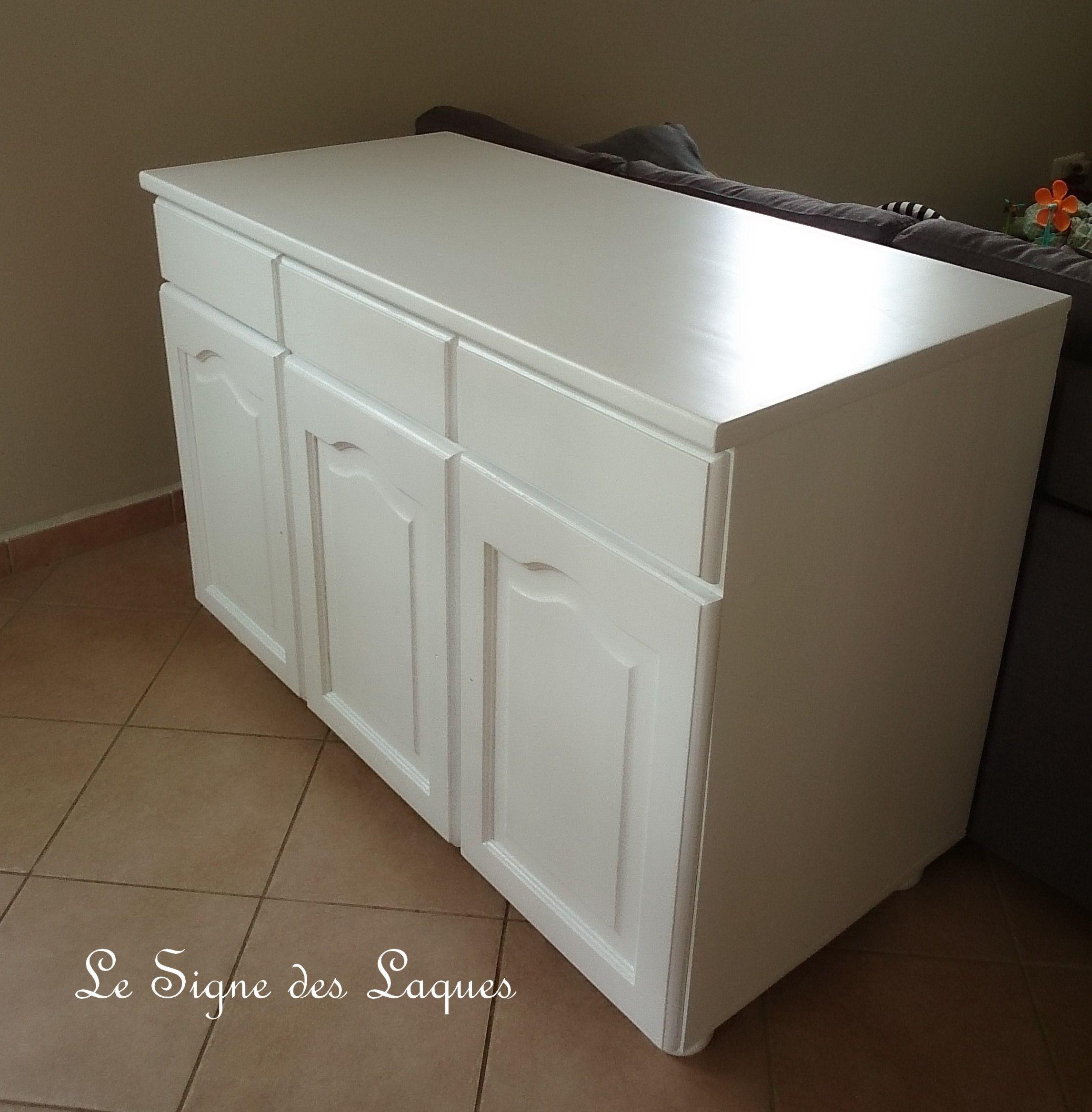 Bahut Laque Blanc Satine Outdoor Storage Box Outdoor Storage Storage
