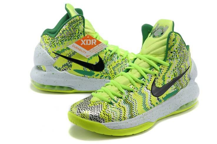 private recommend nike zoom kd v christmas graphic volt green black white