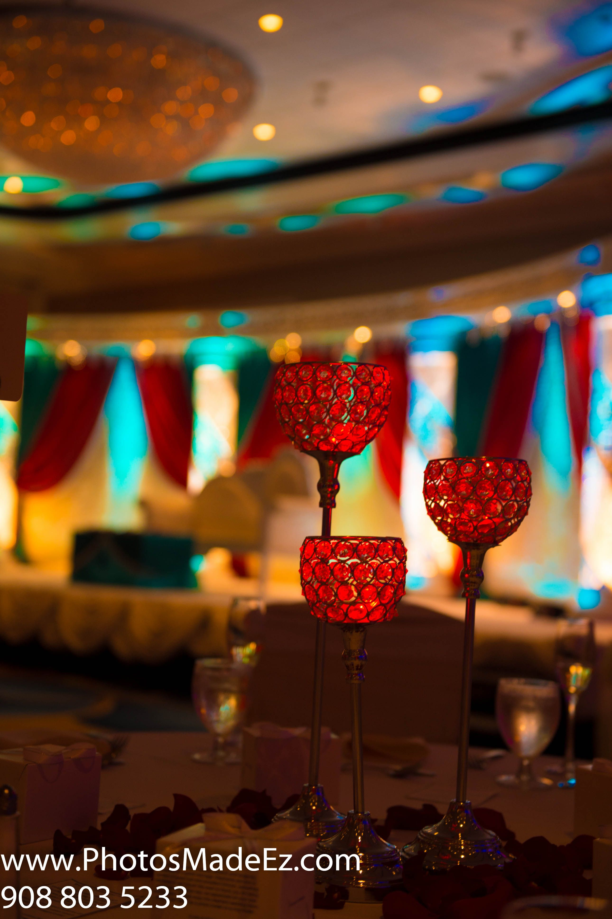 Decor For Reception In Indian Wedding In Marriott Teaneck Nj With