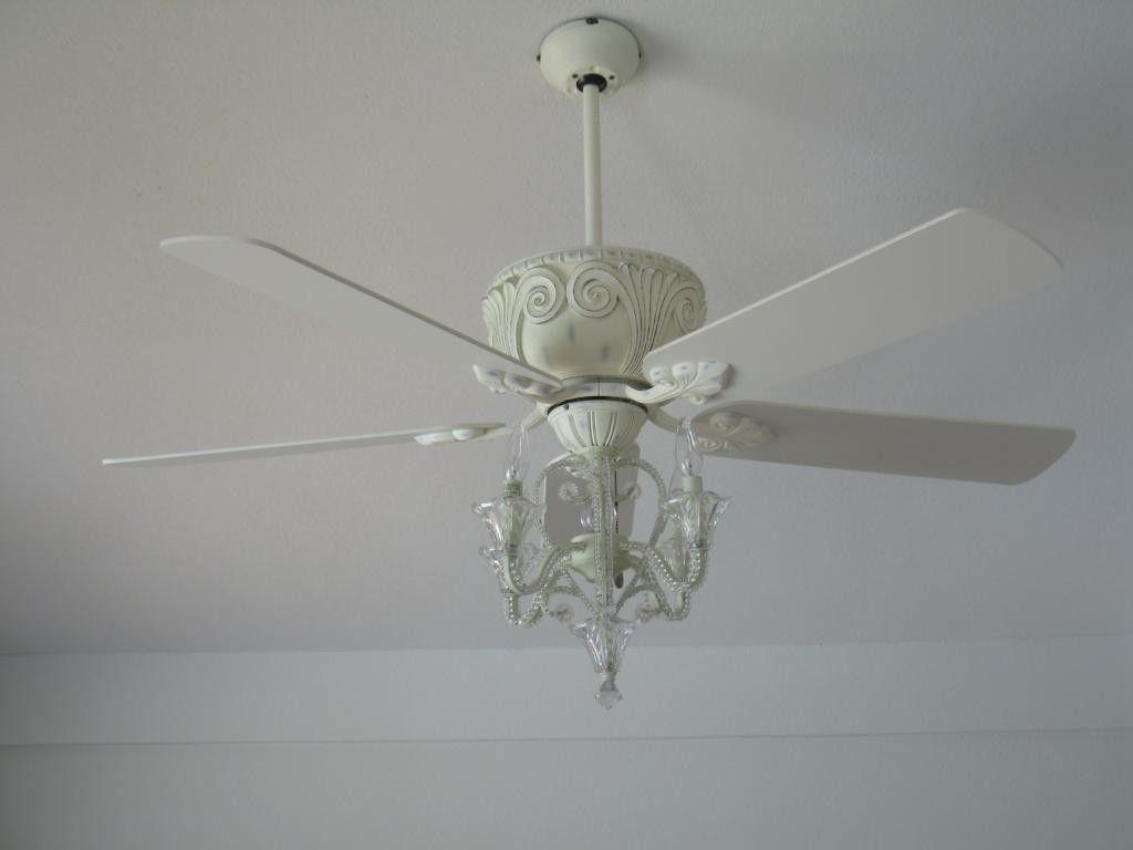 Pin By Rio Netheroez On Chandelier Ideas White Ceiling Fan