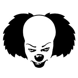 It - Pennywise the Clown Stencil | Halloween stencils ...