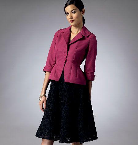 Misses\'/Misses\' Petite Jacket and Skirt | Sew It Clothes | Pinterest