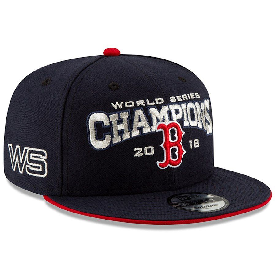 3ad50bb66 Men's Boston Red Sox New Era Navy 2018 World Series Champions 9FIFTY ...
