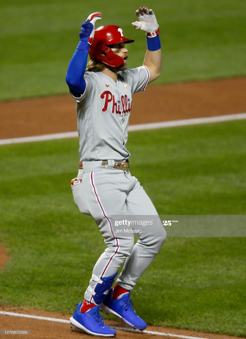 Bryce Harper Of The Philadelphia Phillies Reacts After A Ball Was Philadelphia Phillies Bryce Harper Phillies