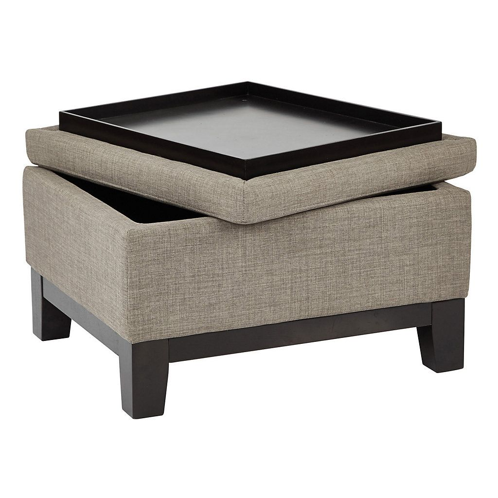 Ave Six Regent Upholstered Storage Ottoman With Reversible