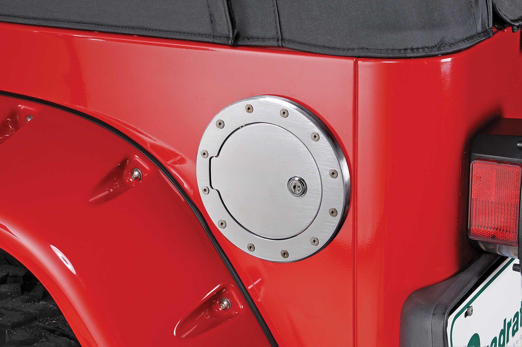 Ami Billet Locking Fuel Door For 97 06 Jeep Wrangler Tj Unlimited Jeep Wrangler Jeep Wrangler Tj Wrangler Tj