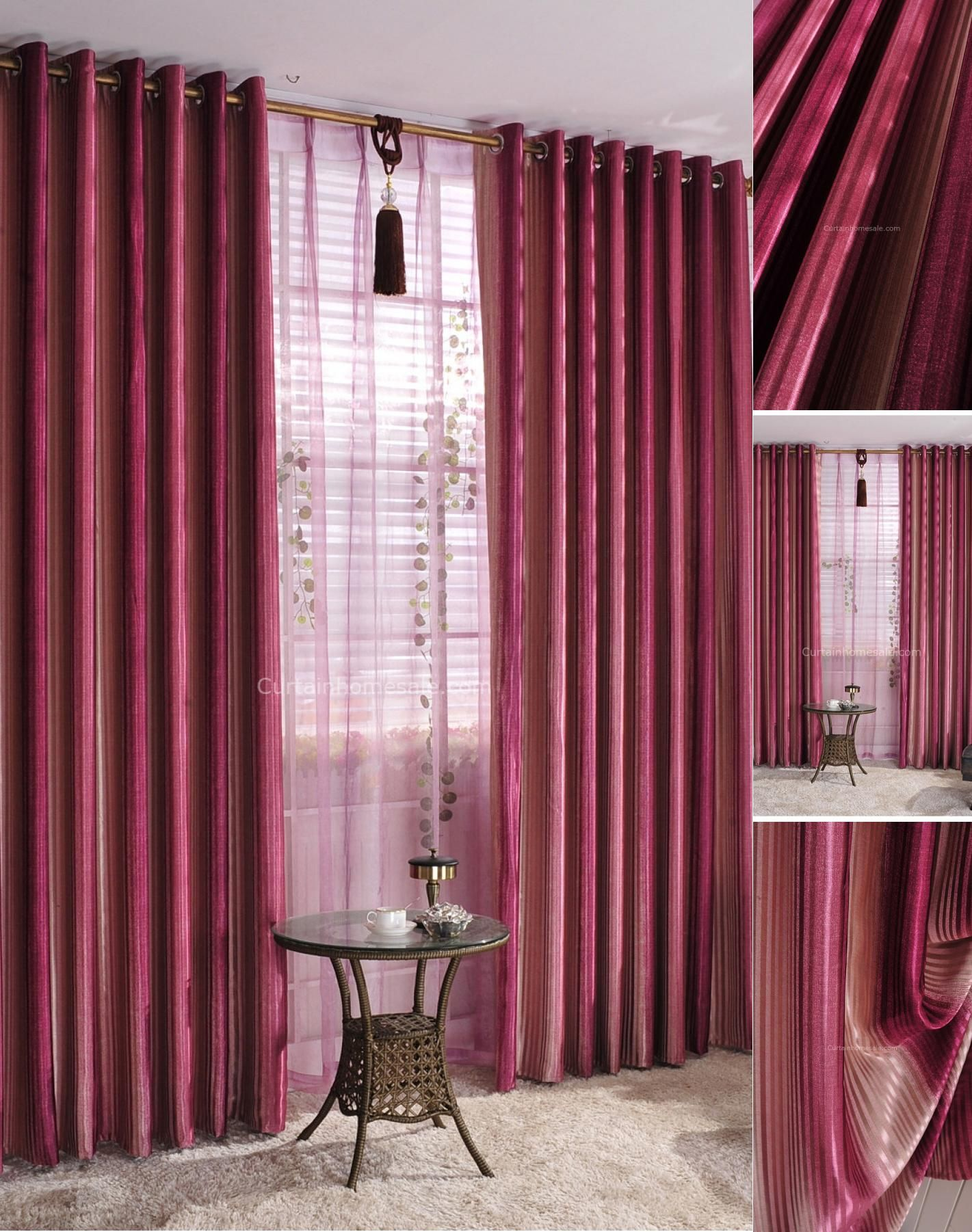 Spanish Style Curtains In Bright Color Red With Lines Spanish Style Homes Spanish Style Mediterranean Home Decor