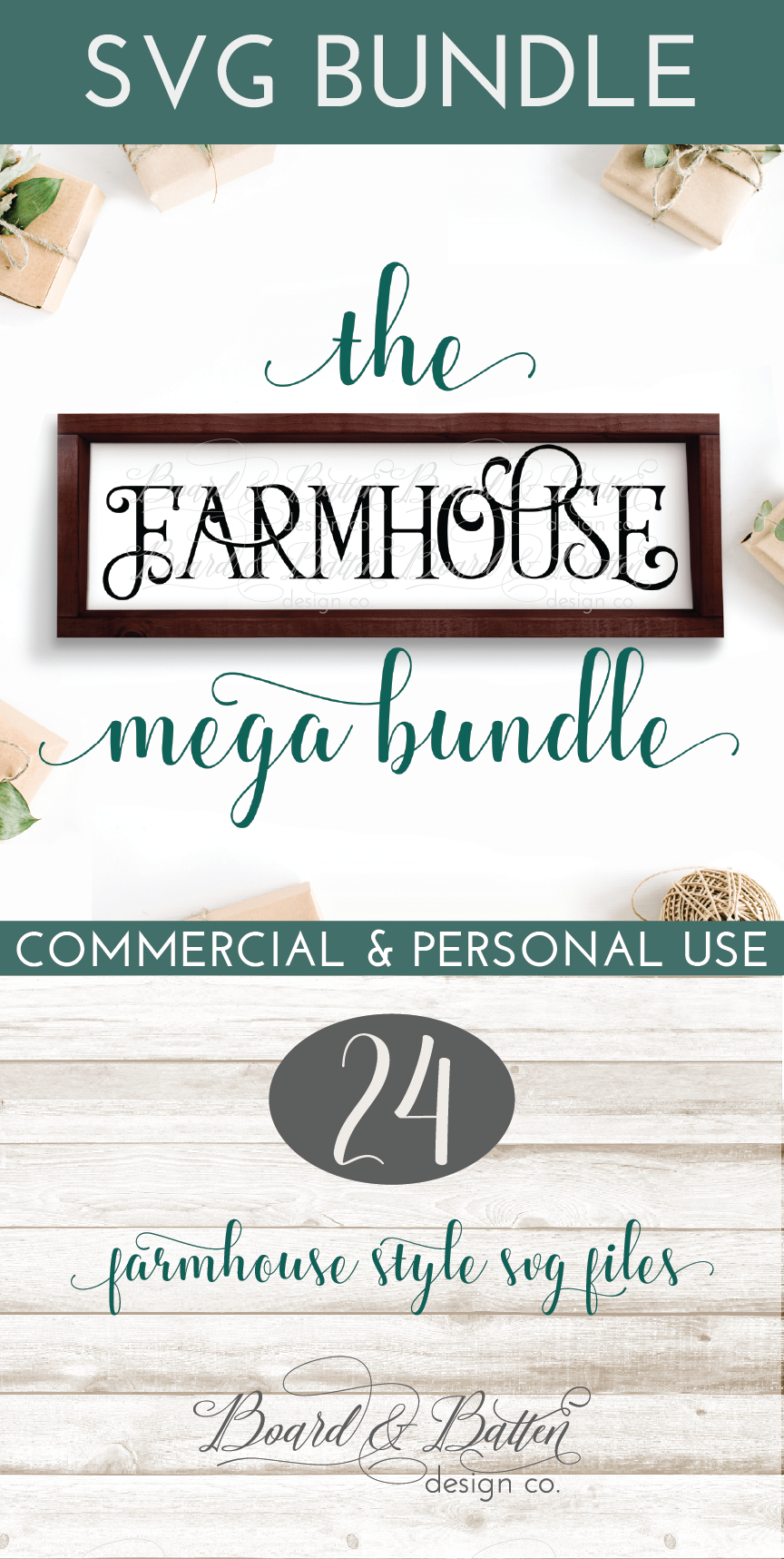And you totally need this big mega farmhouse svg bundle this bundle has 24 farmhouse country ranch style svg files everything from est date signs to