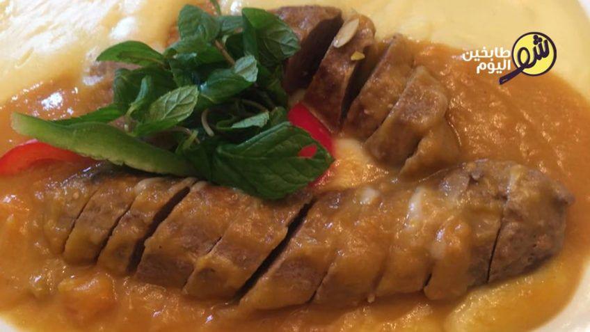 P طريقة مميزة لتحضير روستو اللحم مع الفستق الحلبي قدموا هذه الوصفة لروستو اللحم بالفستق الحلبي في مناسباتكم السعيدة إلى جانب الخضار المسلوقة وا Food Eat Pork