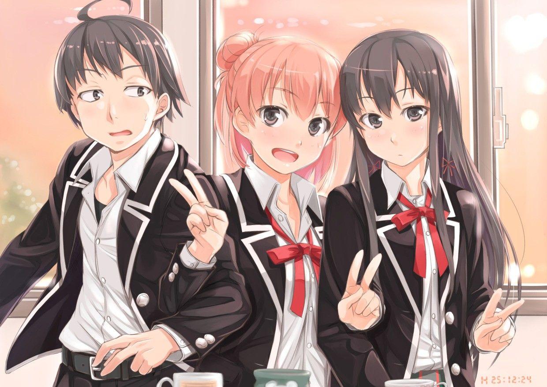 Hikki, Yukino and yui Anime, Romantic comedy, Romantic
