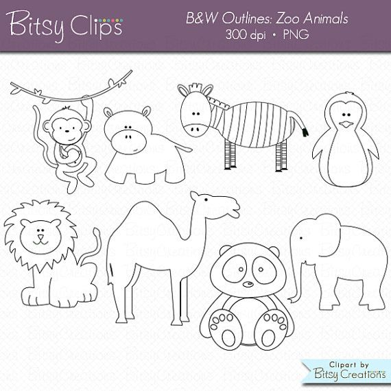 35+ Outline Clipart Of Animals