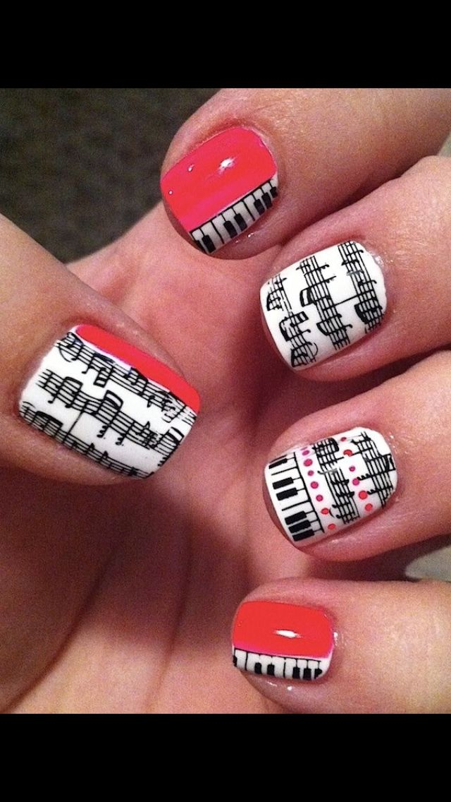 Music nails key notes | Nails | Pinterest | Music nails and Natural ...