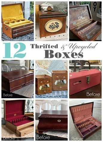 12 Thrifted & Upcycled Box Makeovers #thriftstoreupcycle