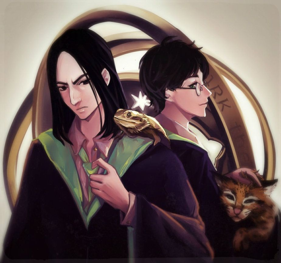 Harry Potter And Severus Snape By Loremagro Deviantart Com On Deviantart Severus Snape Harry Potter Anime Harry Potter Severus Snape