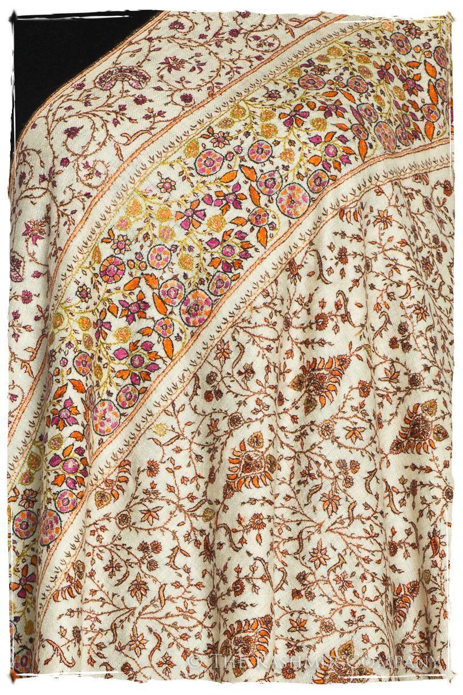 Fleur Tropicale Grand Pashmina Shawl Pashmina Shawl Pashmina Hand Dyed Shawl