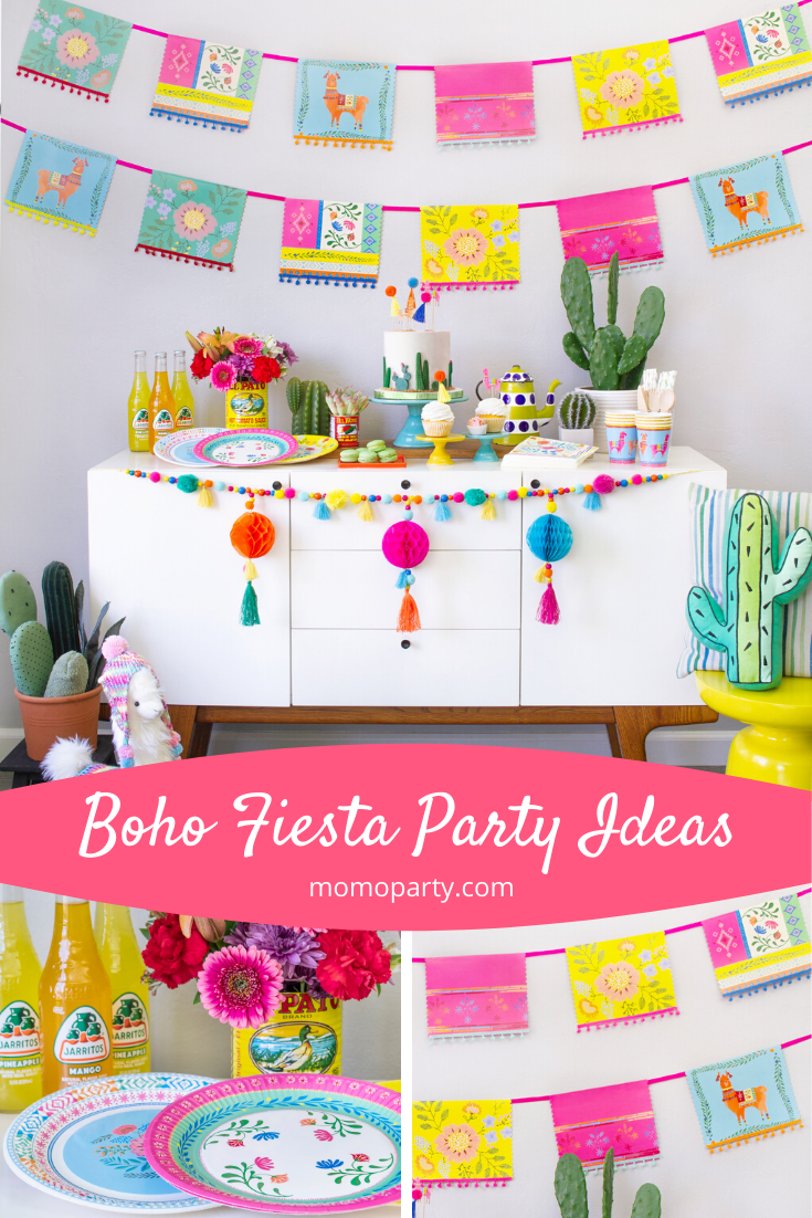 Party Decoration Ideas For A Boho Fiesta Themed Celebration Check Out The Link For More Fiesta Themed Pa In 2020 Fiesta Theme Party Themed Party Supplies Fiesta Party