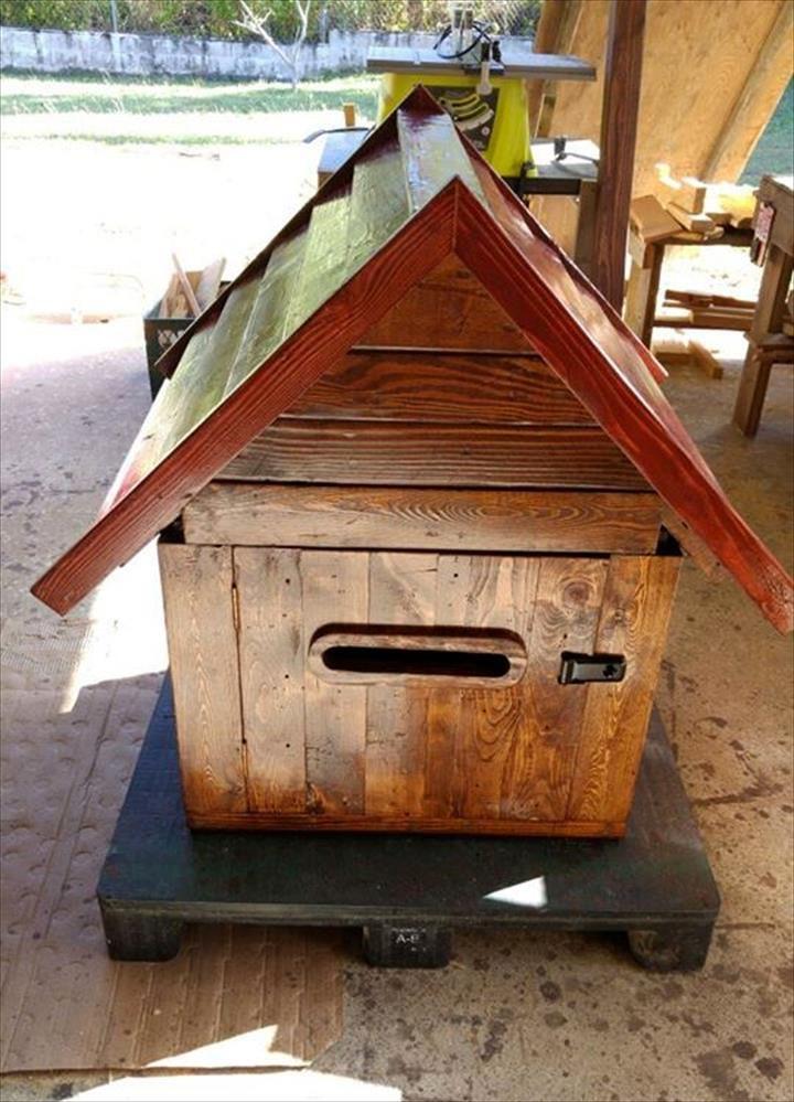 Wooden Pallet Mailbox / Parcel Box Wooden mailbox