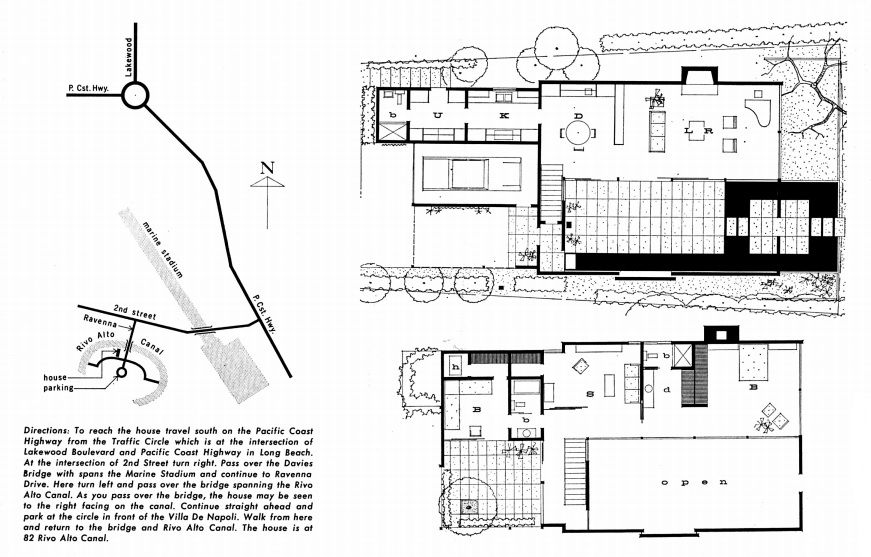 Case Study House No.25 : Frank House, Long Beach CA (1962