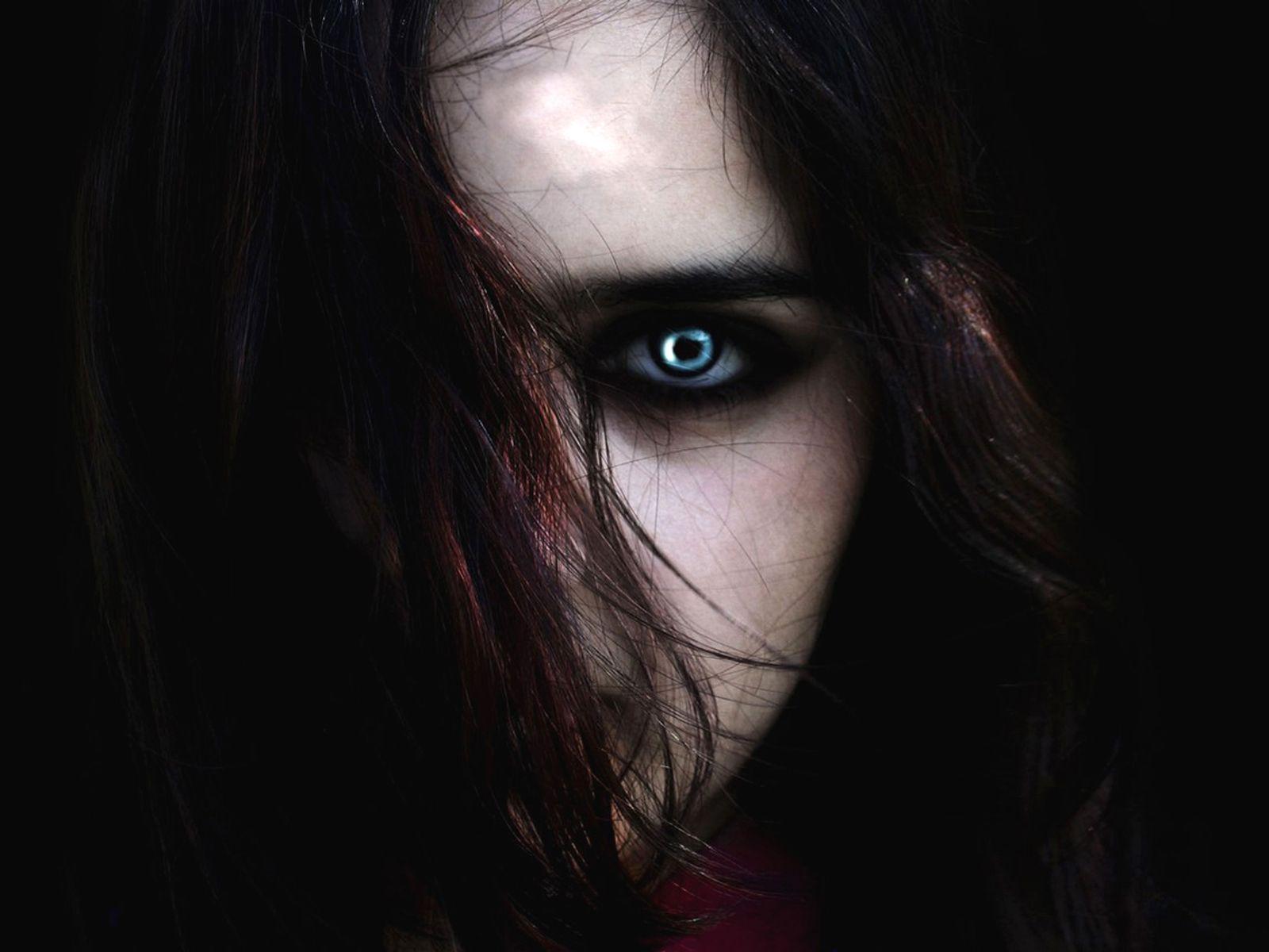 girl on dark wallpaper - photo #45