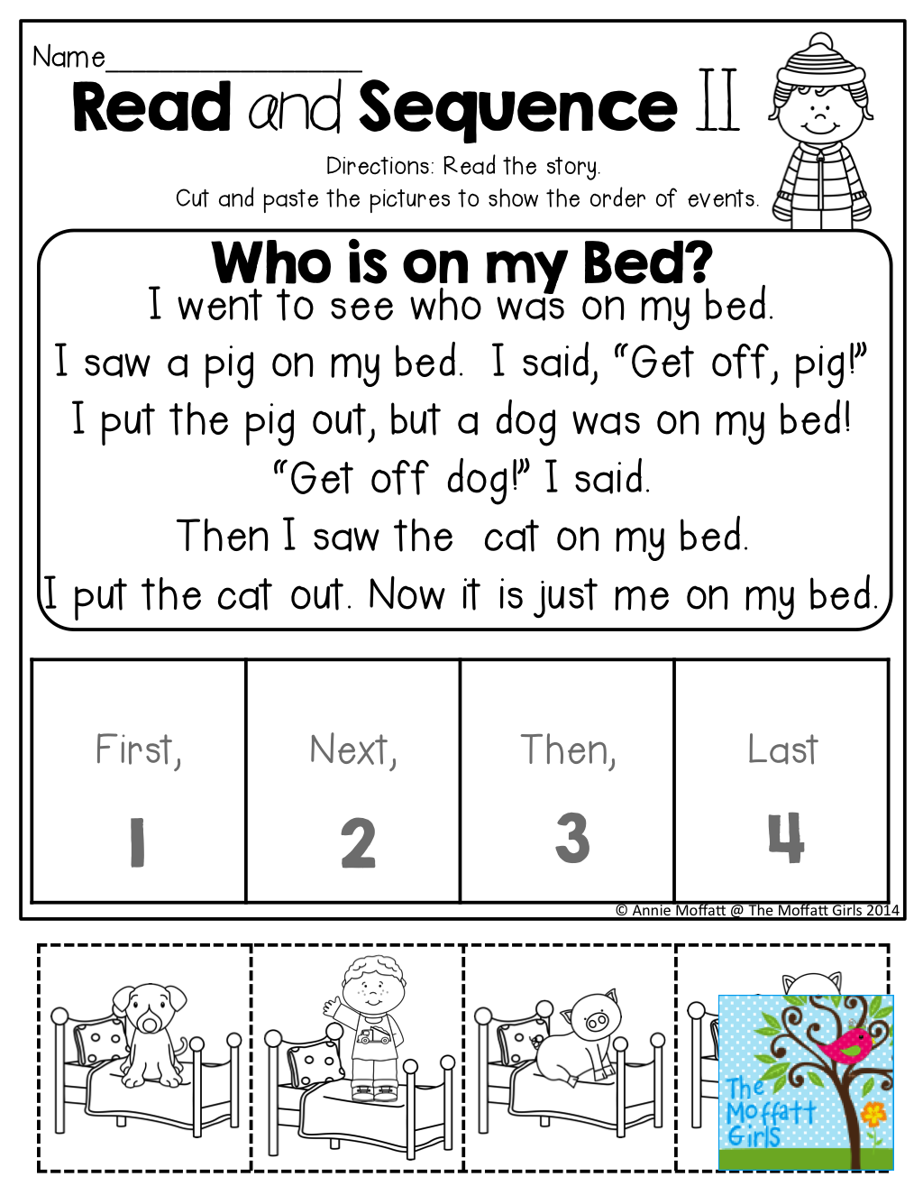Read And Sequence The Simple Story Cut And Past The Pictures In Order Tons Of Fun And