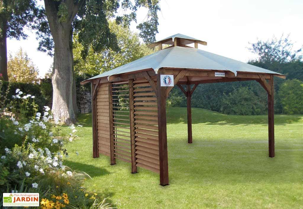 Tonnelle Bois PEFC Spacio Sans Vantelle 16m² | Bois ...