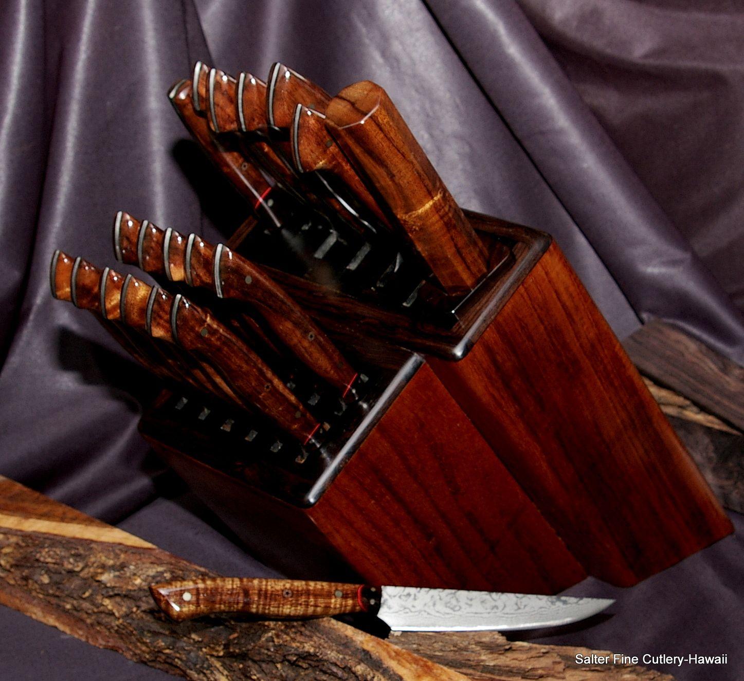 12 piece custom steak knife set with 7 piece