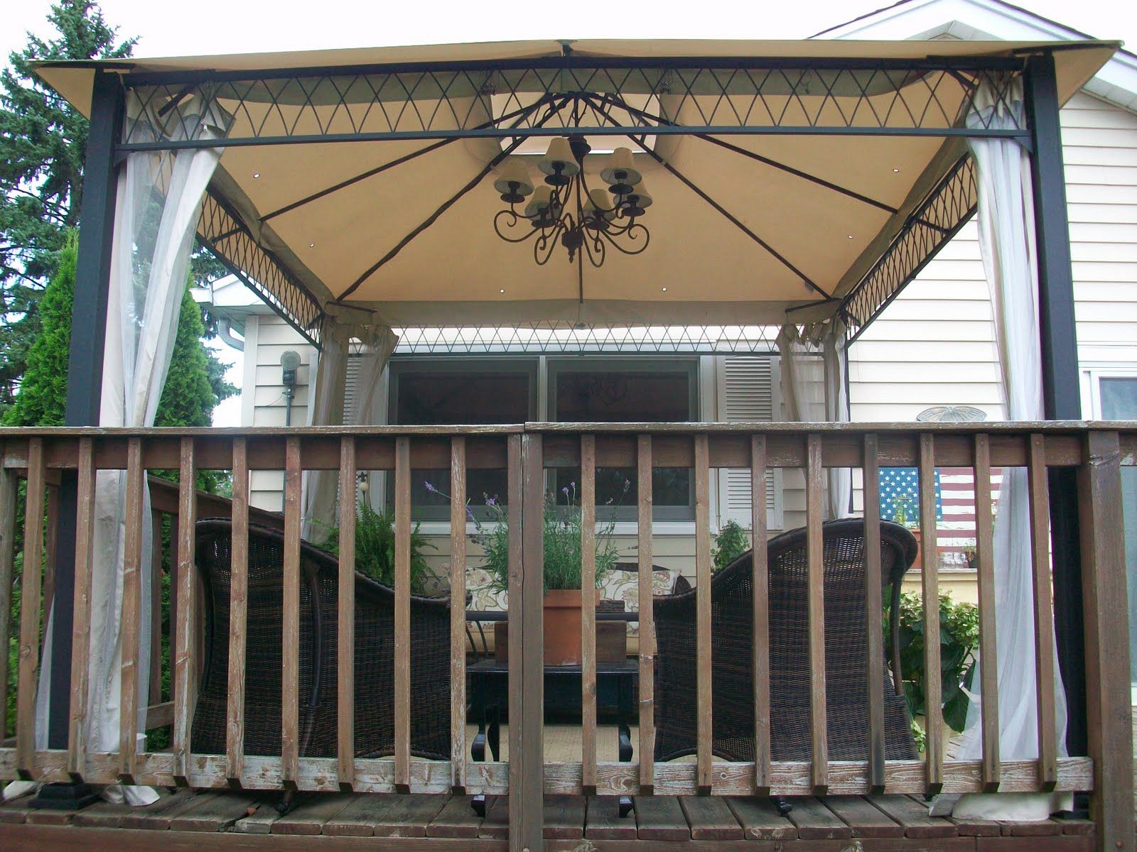 Sketch Of Beautiful Outdoor Gazebo Lighting